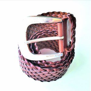 Vintage Michael Kors Woven Leather Belt, L